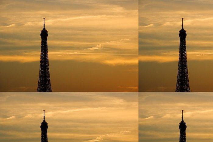 Tapeta Pixerstick Západ slunce na Eiffelova věž - Evropská města