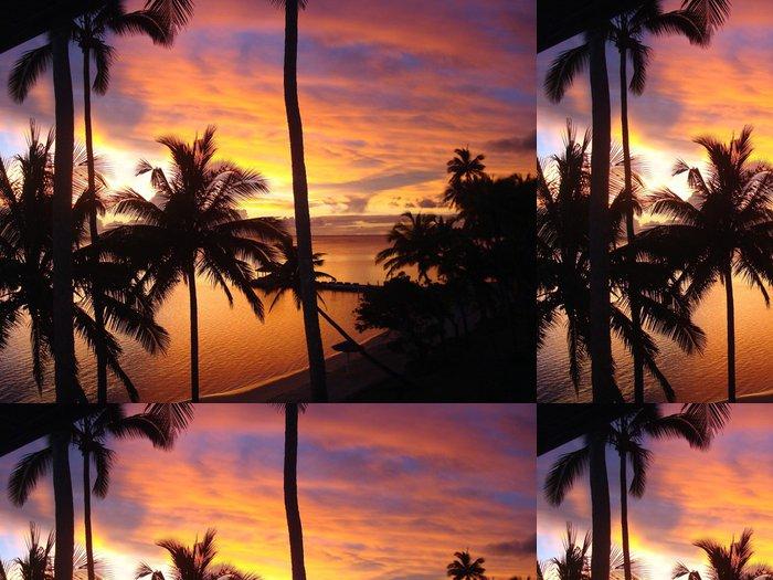 Tapeta Pixerstick Západ slunce na Fidži - Voda