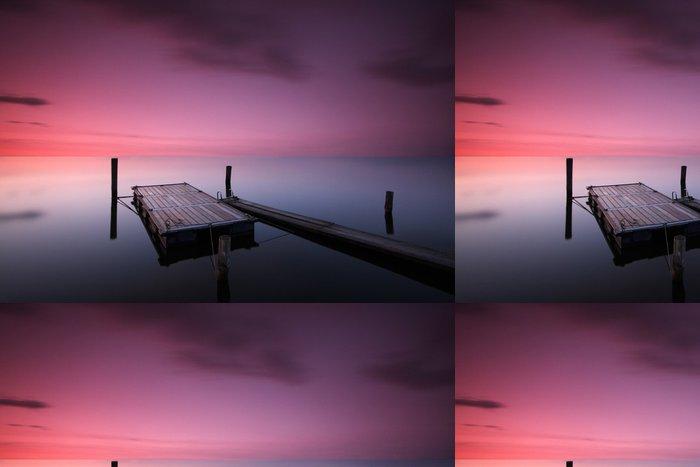 Tapeta Pixerstick Západ slunce na jezeře - Voda