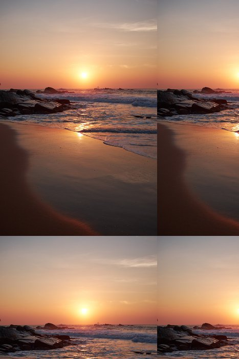 Tapeta Pixerstick Západ slunce na moři, Sri Lanka beach - Asie