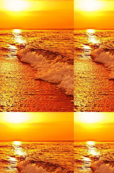 Tapeta Pixerstick Západ slunce na moři - Voda