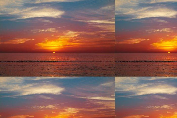Tapeta Pixerstick Západ slunce na pláži - Prázdniny