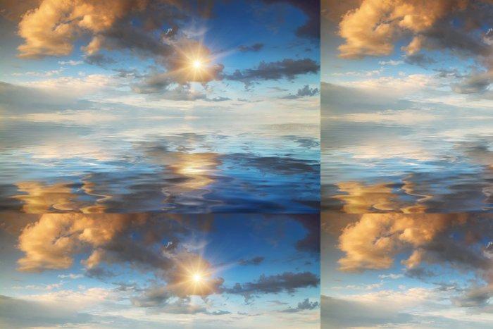 Tapeta Pixerstick Západ slunce na poli - Přírodní krásy