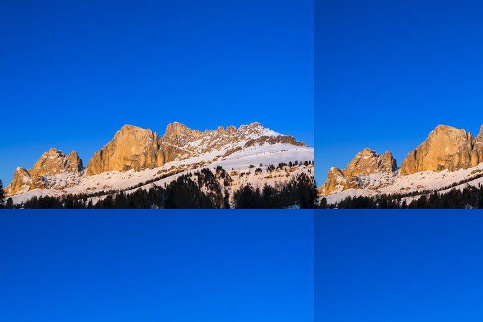 Tapeta Pixerstick Západ slunce na Rosengarten, dolomit - Itálie - Evropa