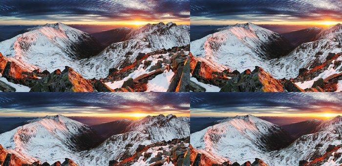 Tapeta Pixerstick Západ slunce na Slovensku Tatrách - Hory