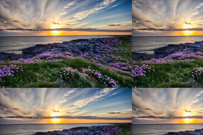 Tapeta Pixerstick Západ slunce na Tangasdale - HDR - Evropa