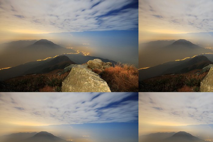 Tapeta Pixerstick Západ slunce nad horami - Hory