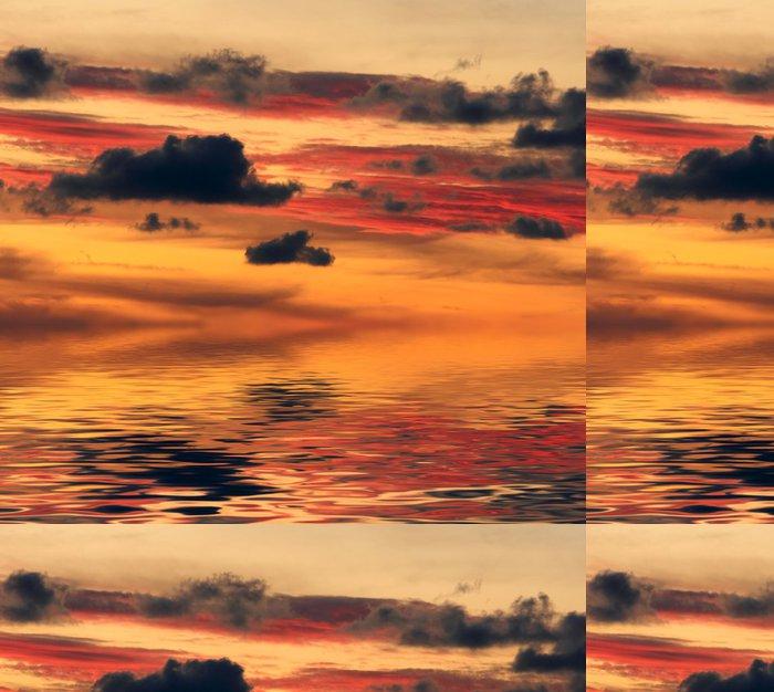 Tapeta Pixerstick Západ slunce nad vodou - Nebe