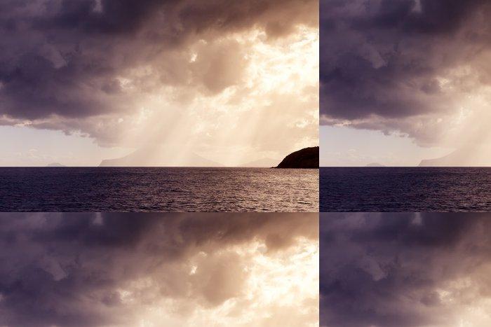 Vinylová Tapeta Západ slunce oceán - Nebe