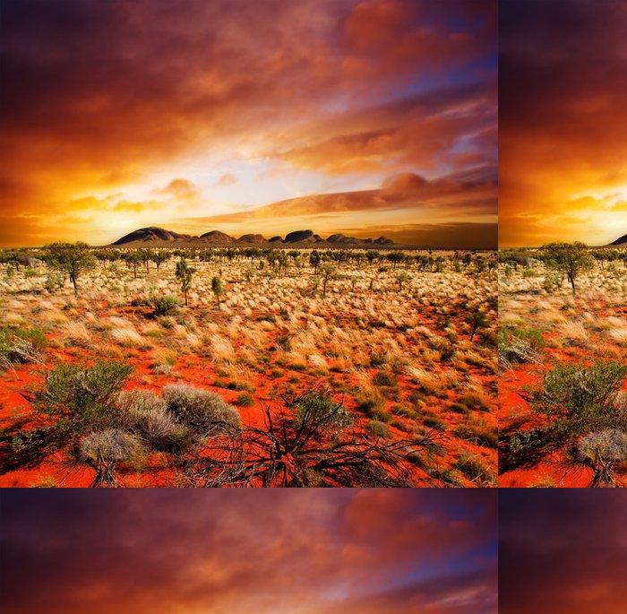 Tapeta Pixerstick Západ slunce pouště krása - Témata