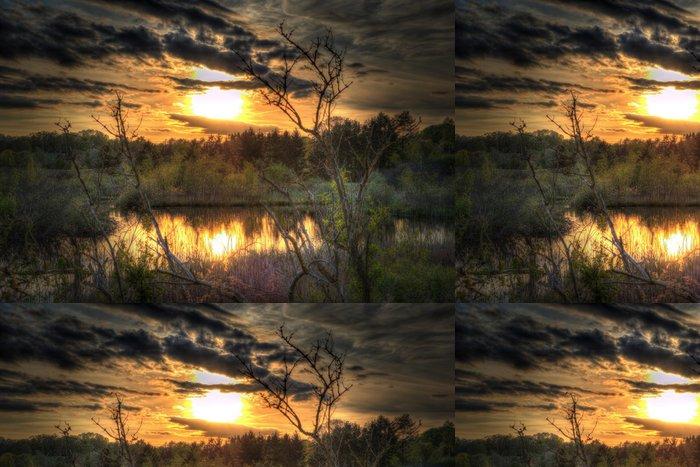 Tapeta Pixerstick Západ slunce v HDR - Příroda a divočina