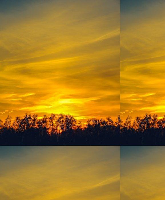Tapeta Pixerstick Západ slunce v oblacích - Nebe