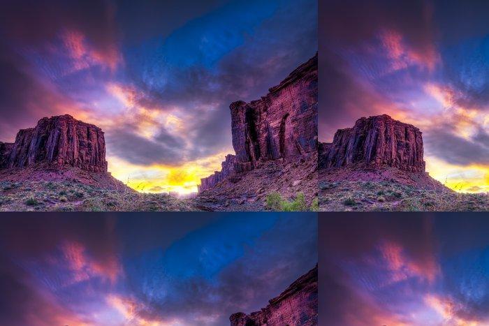 Tapeta Pixerstick Západ slunce v Utahu poušti - Amerika