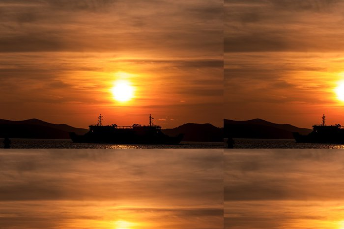 Tapeta Pixerstick Západ slunce v Zadaru - Evropa
