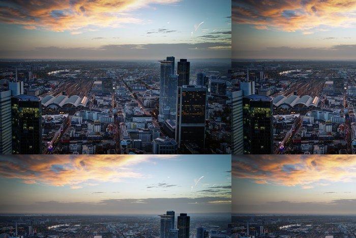 Tapeta Pixerstick Západ slunce ve Frankfurtu nad Mohanem - Evropa