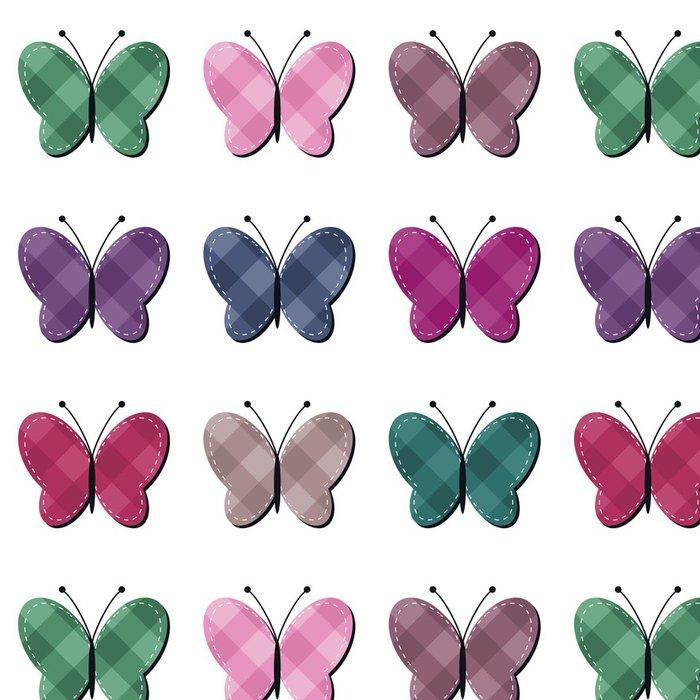 Tapeta Pixerstick Zápisníku motýlů na bílém pozadí - Jiné objekty