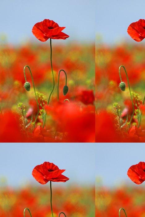 Tapeta Pixerstick Zarostlé mák květiny - Témata