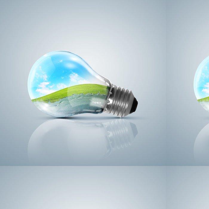 Vinylová Tapeta Žárovka s čistou přírodou symbol uvnitř - Rostliny