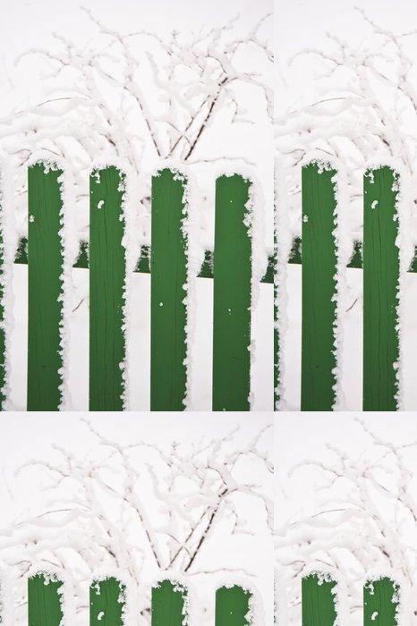 Tapeta Pixerstick Zasněžený - Roční období