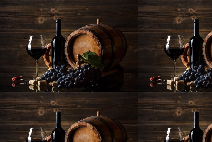 Tapeta Pixerstick Zátiší s červeným vínem - Témata