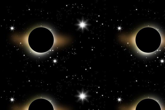 Tapeta Pixerstick Zatmění Měsíce, Black Moon - Témata