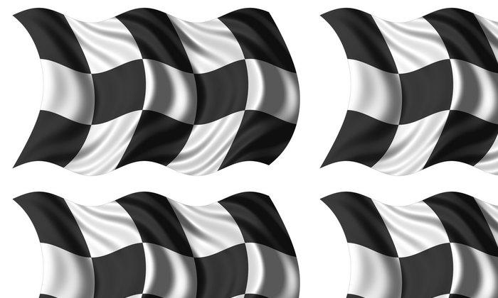 Tapeta Pixerstick Závod vlajky izolovaných - Doplňky a věci