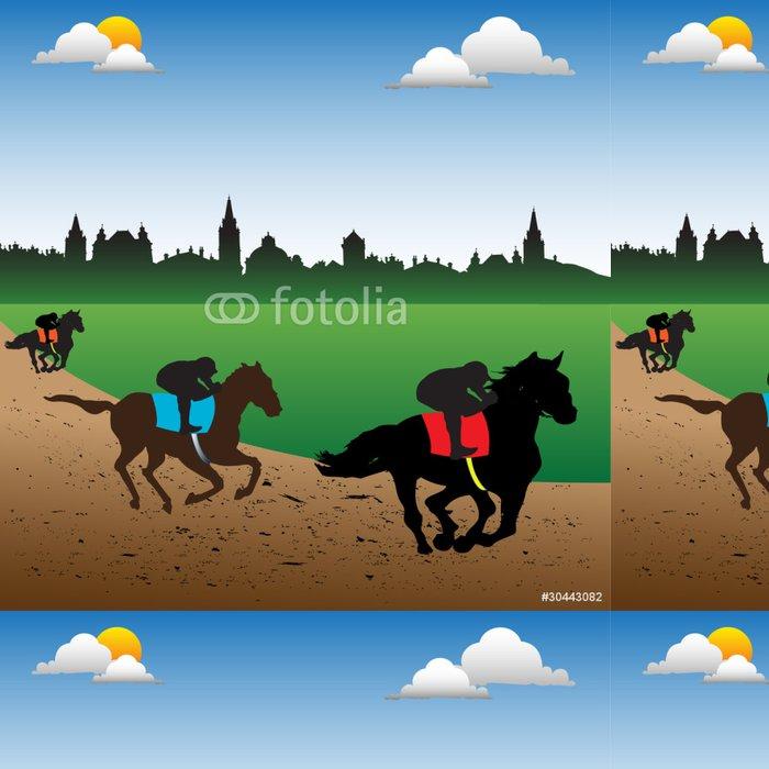Tapeta Pixerstick Závodní koně a žokeje - Savci