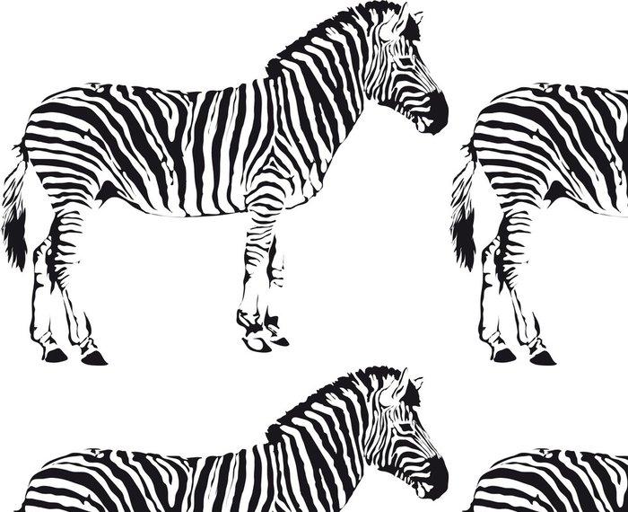 Tapeta Pixerstick Zebra - Nálepka na stěny