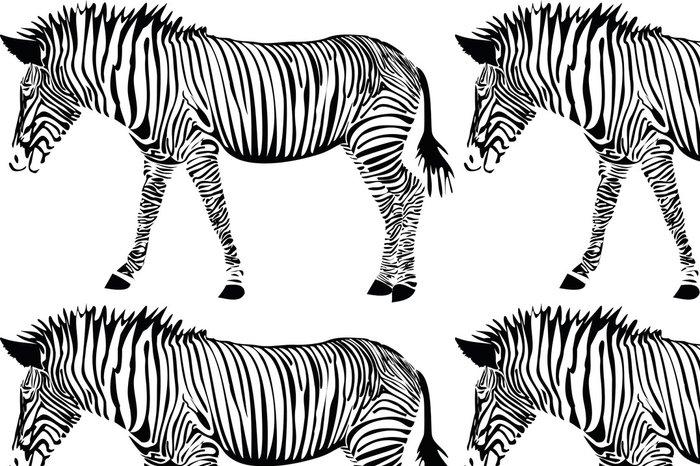 Tapeta Pixerstick Zebre - Savci