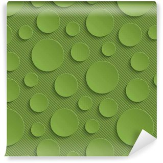 Vinylová Tapeta Zeleň kruhy bezproblémové vzor.