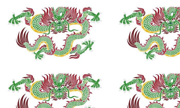 Vinylová Tapeta Zelená Čínský drak vektor - Umění a tvorba
