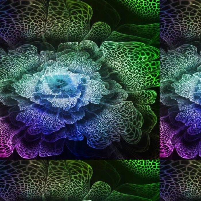 Tapeta Pixerstick Zelená futuristický květ - Styly