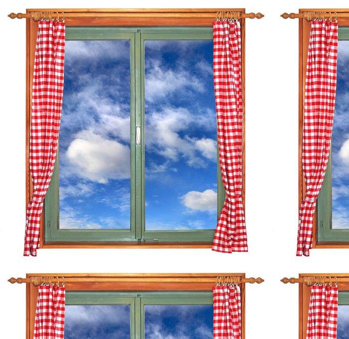 Tapeta Pixerstick Zelená window1 -