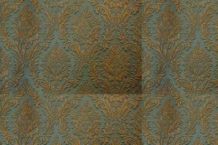 Tapeta Pixerstick Zelená zlato stěna ornament textura pozadí - Grafika