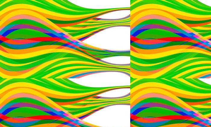 Tapeta Pixerstick Zelená, žlutá; červený; fialové a modré vektoru v kombinaci abstraktní lin - Pozadí