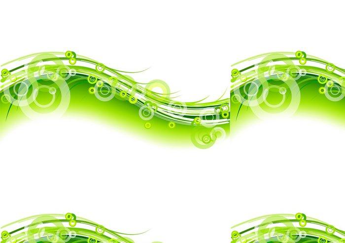 Tapeta Pixerstick Zelené kruhy - Pozadí