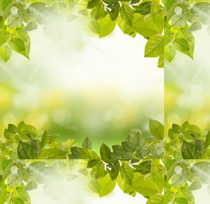 Tapeta Pixerstick Zelené listy ráno - Témata
