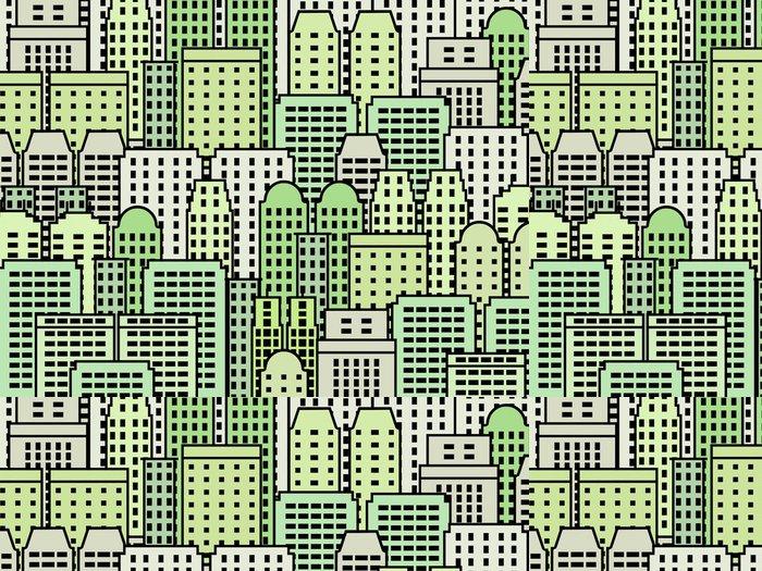 Tapeta Pixerstick Zelené město vector abstract - Město