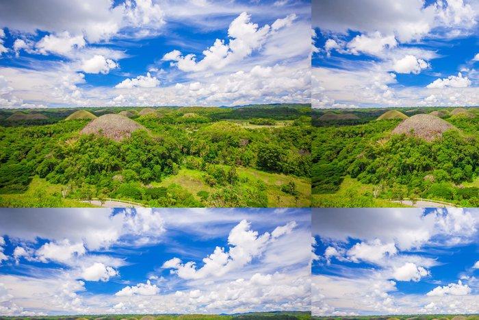 Tapeta Pixerstick Zelené neobvyklé Chocolate Hills v Bohol, Filipíny - Prvky podnikání