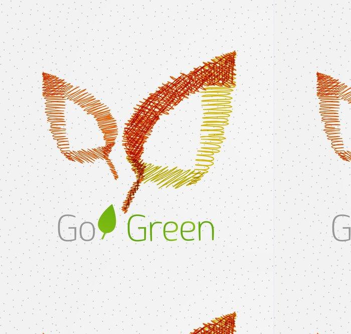 Tapeta Pixerstick Zelený list ručně kreslenými koncept - Mír