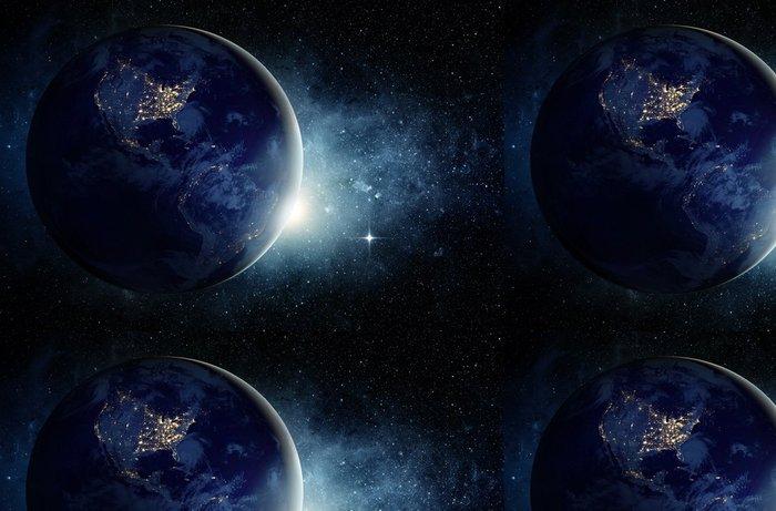 Tapeta Pixerstick Země a galaxie. Prvky tohoto obrázku zařízeném NASA. - Meziplanetární prostor