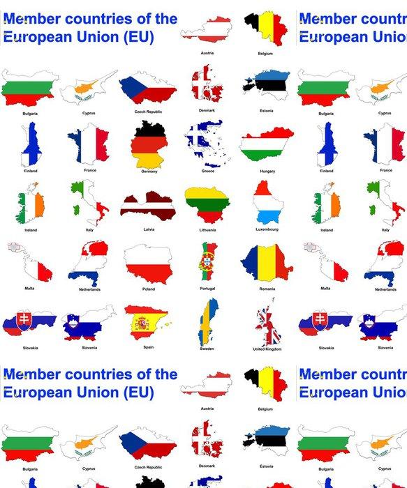 Vinylová Tapeta Země EU flag mapy - Evropa
