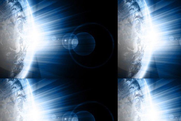 Tapeta Pixerstick Země pohled z vesmíru na tmavém pozadí - Nebe