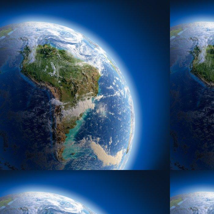 Tapeta Pixerstick Země s vysokým úlevou, osvětlena sluncem - Země