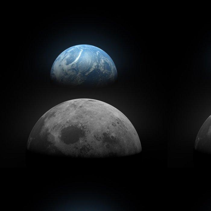 Vinylová Tapeta Země vidět z Měsíce - Témata