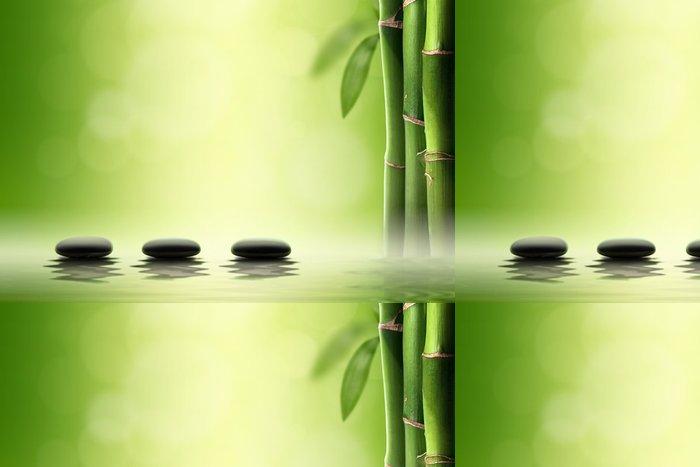 Vinylová Tapeta Zen koncepce. Černé lázeňské kameny v bambusovém. - Životní styl, péče o tělo a krása
