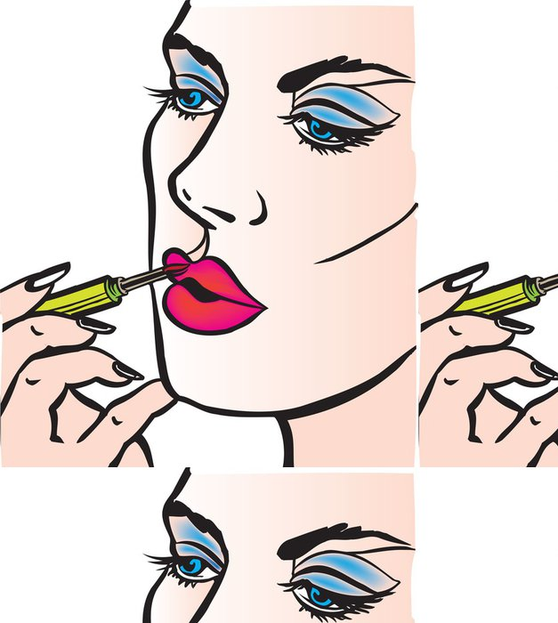 Tapeta Pixerstick Žena make up - Části těla