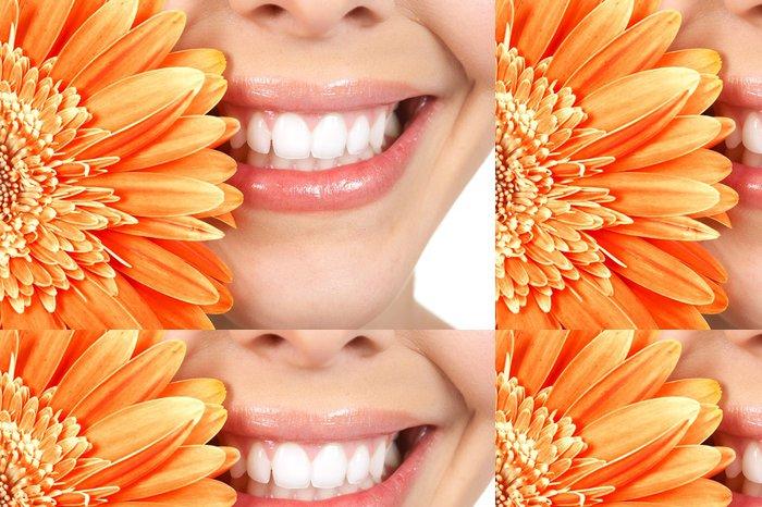 Tapeta Pixerstick Žena zuby - Témata