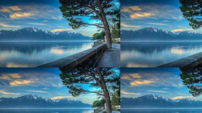 Tapeta Pixerstick Ženevské jezero Morning HDR - Prázdniny
