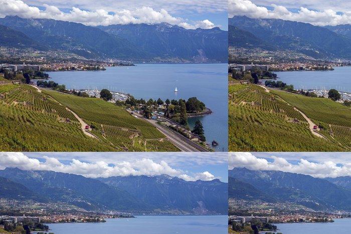 Tapeta Pixerstick Ženevské jezero - Švýcarsko - Evropa